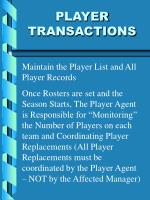 player transactions