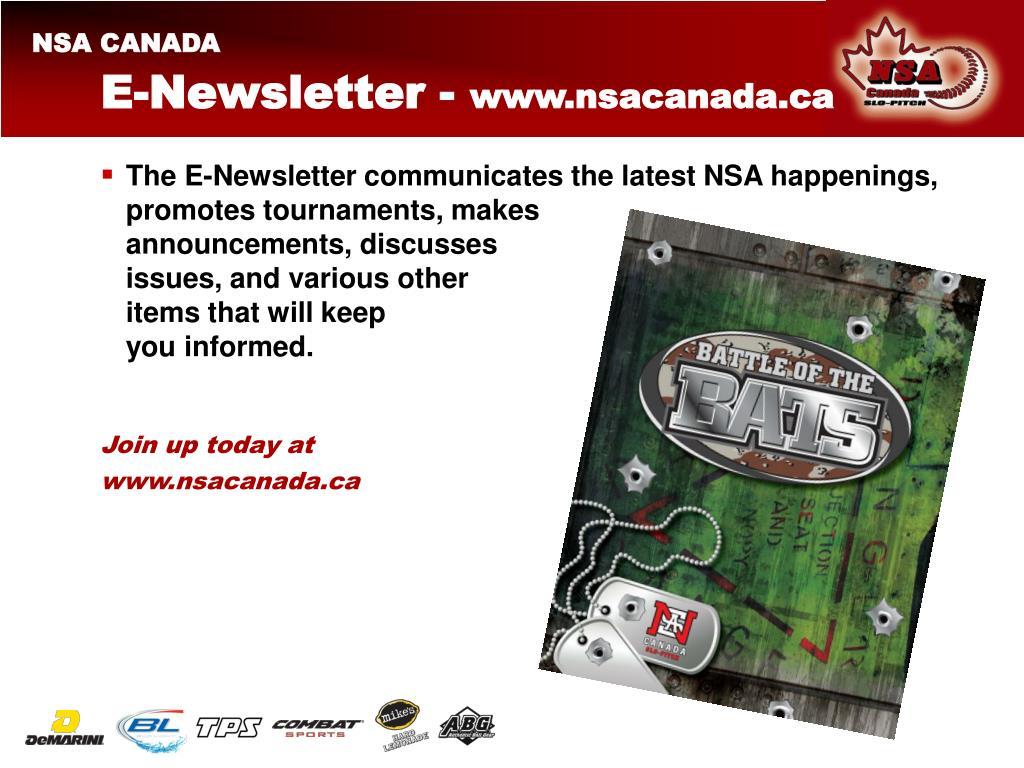 E-Newsletter -