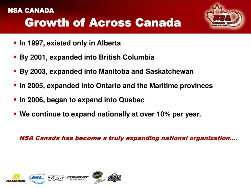 Growth of Across Canada