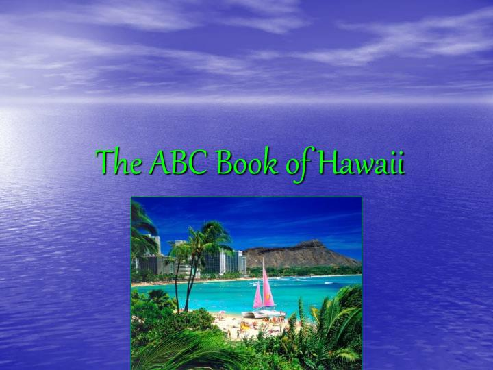 the abc book of hawaii n.