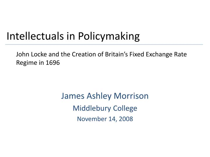 intellectuals in policymaking n.