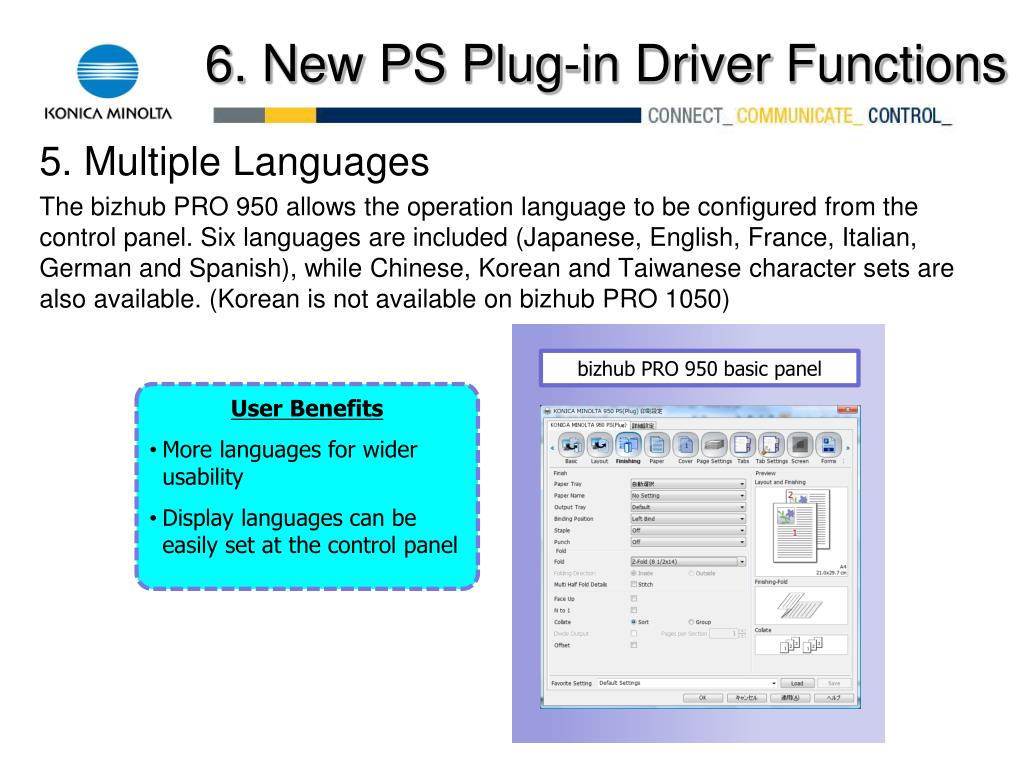 PPT - Introducing the Konica Minolta bizhub PRO 950