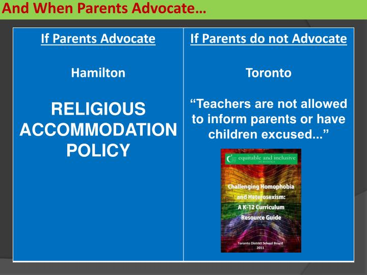 And When Parents Advocate…