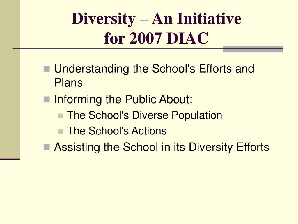Diversity – An Initiative