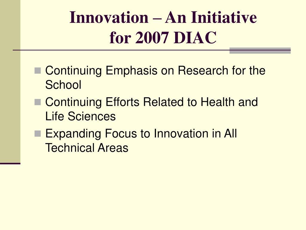 Innovation – An Initiative