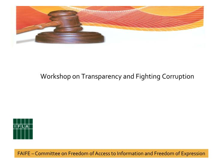 workshop on transparency and fighting corruption n.