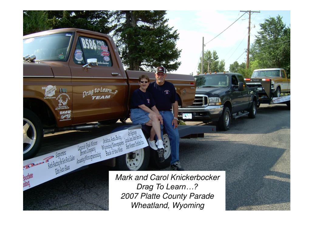 Mark and Carol Knickerbocker