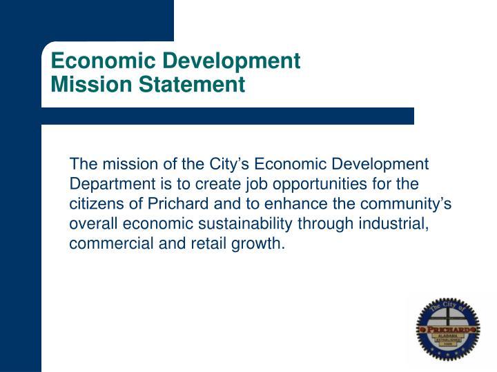 Economic development mission statement