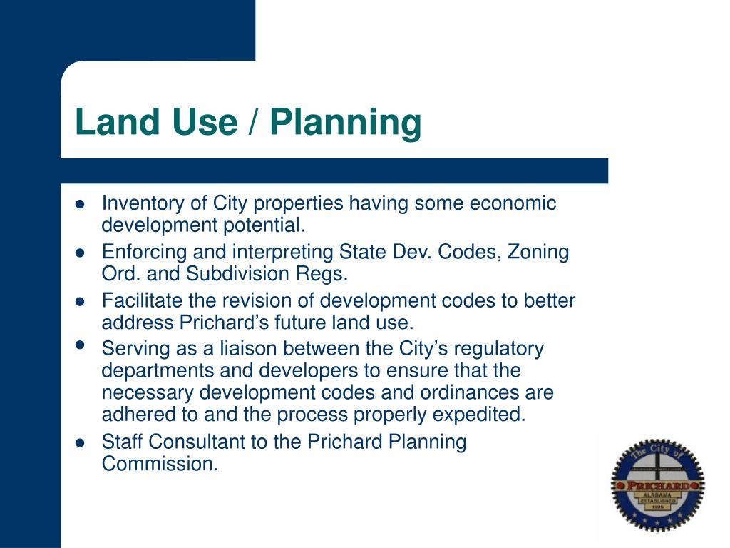 Land Use / Planning