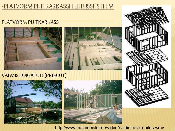 -Platvorm puitkarkassi ehitussüsteem