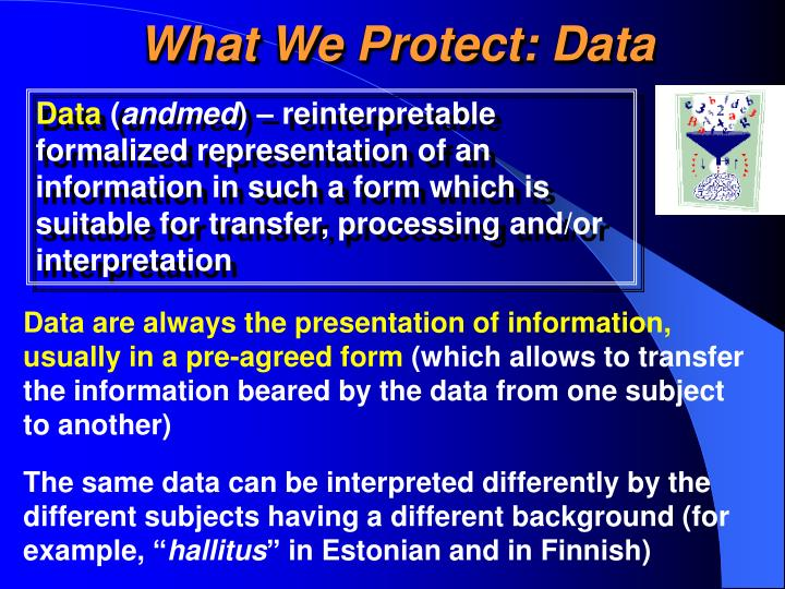 What We Protect: Data