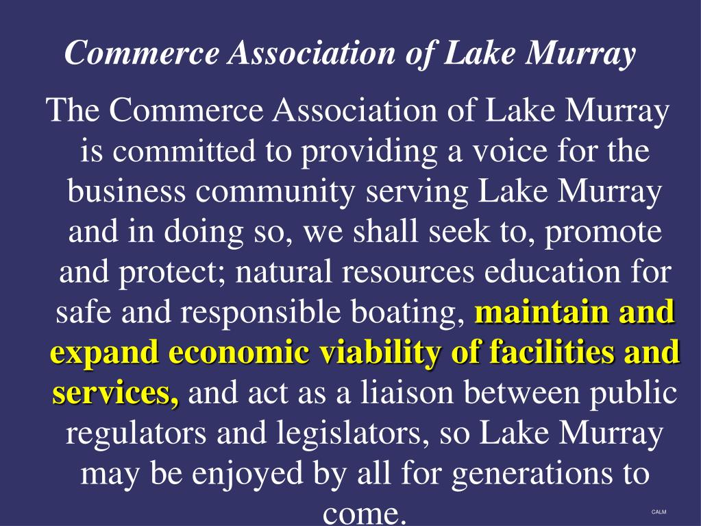 The Commerce Association of Lake Murray is