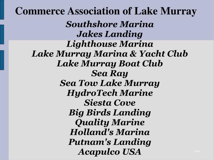 Commerce association of lake murray2