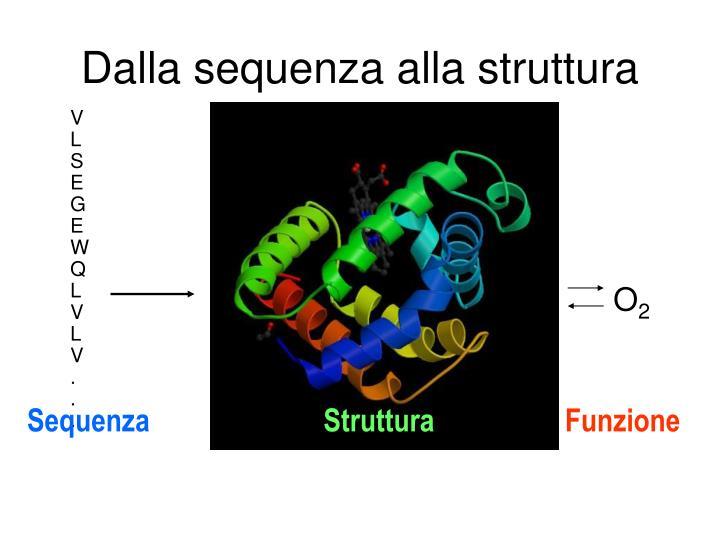 Dalla sequenza alla struttura1