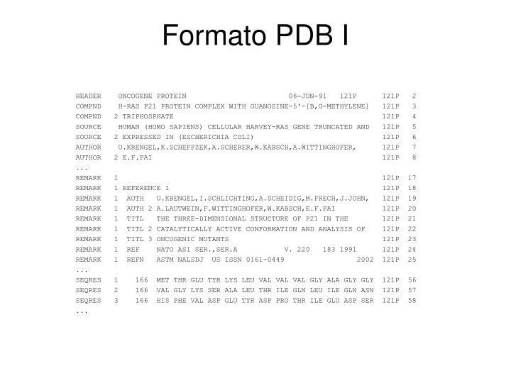 Formato PDB I
