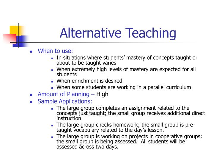 Alternative Teaching