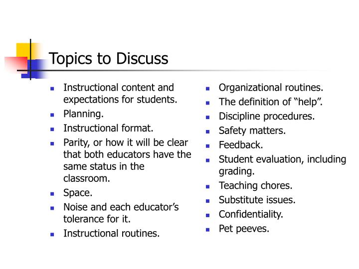 Instructional content and expectations for students.