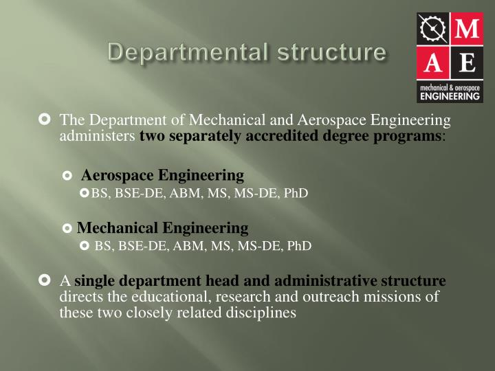 Departmental structure