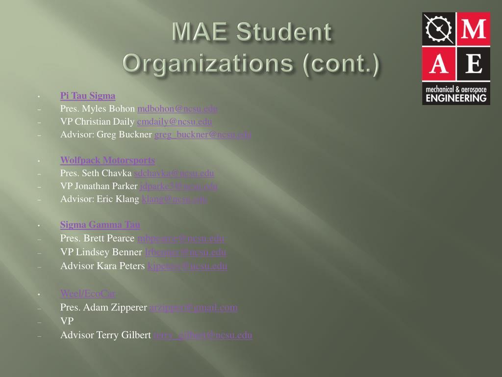 MAE Student