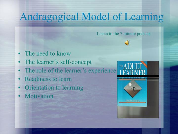 Andragogical model of learning