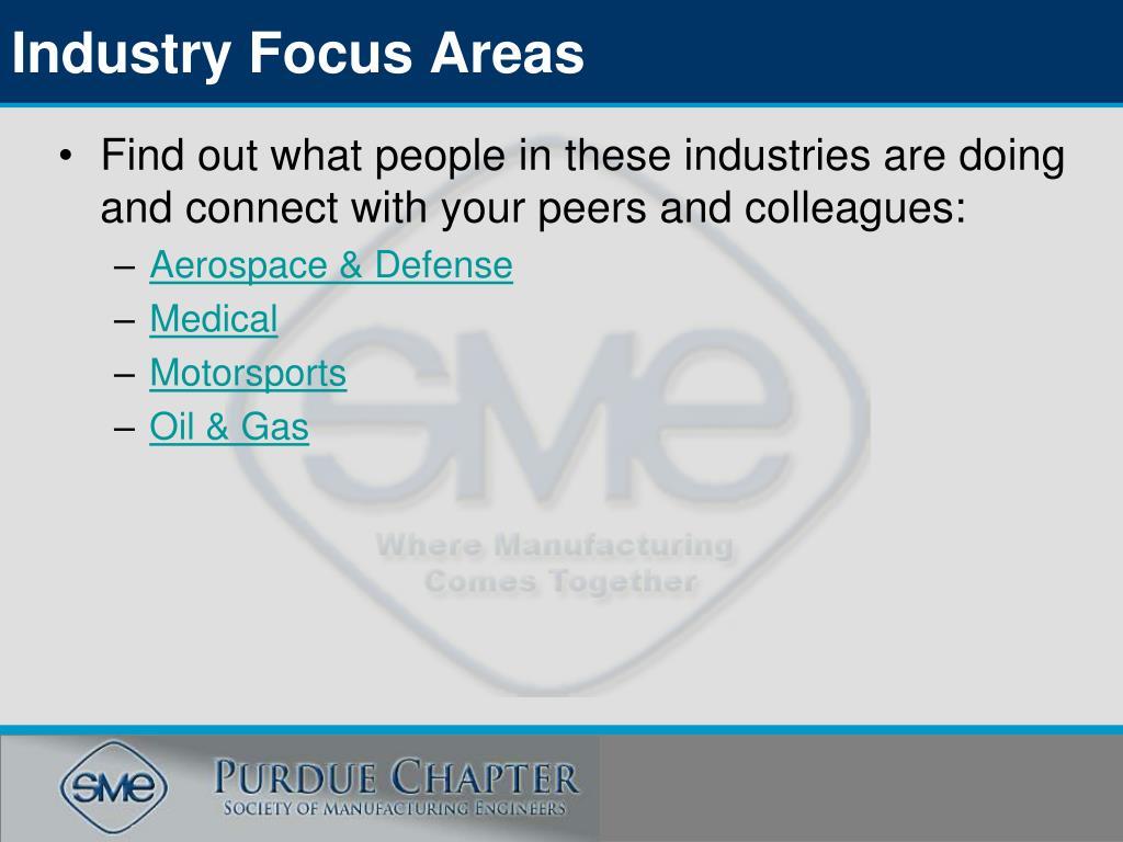 Industry Focus Areas