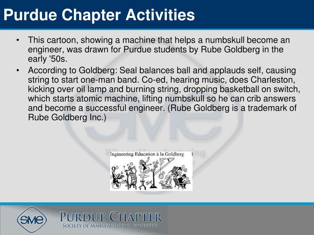 Purdue Chapter Activities
