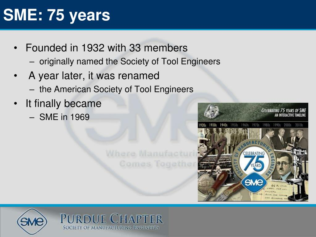 SME: 75 years
