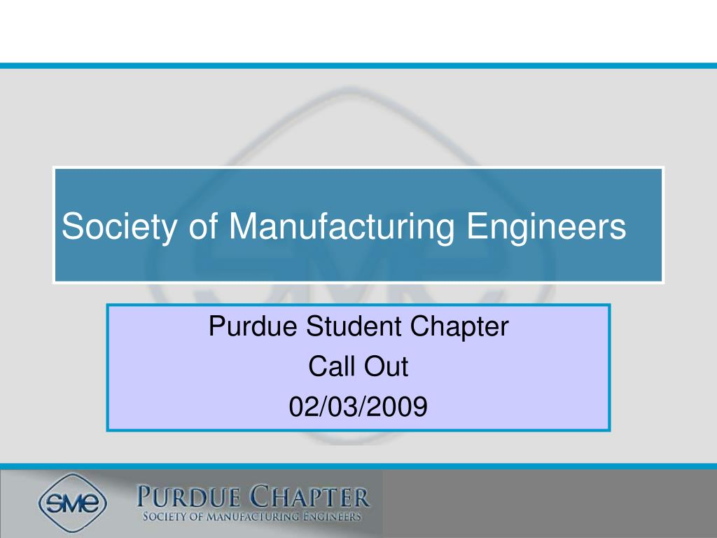 society of manufacturing engineers l.