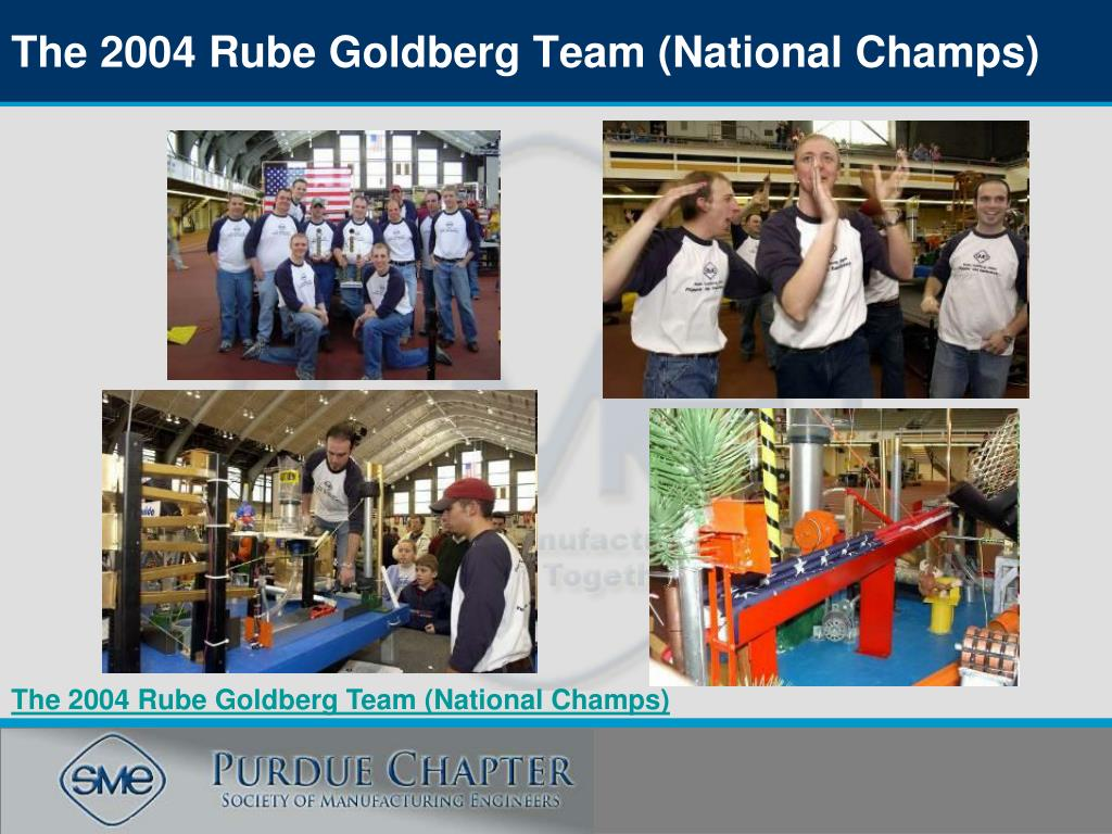 The 2004 Rube Goldberg Team (National Champs)
