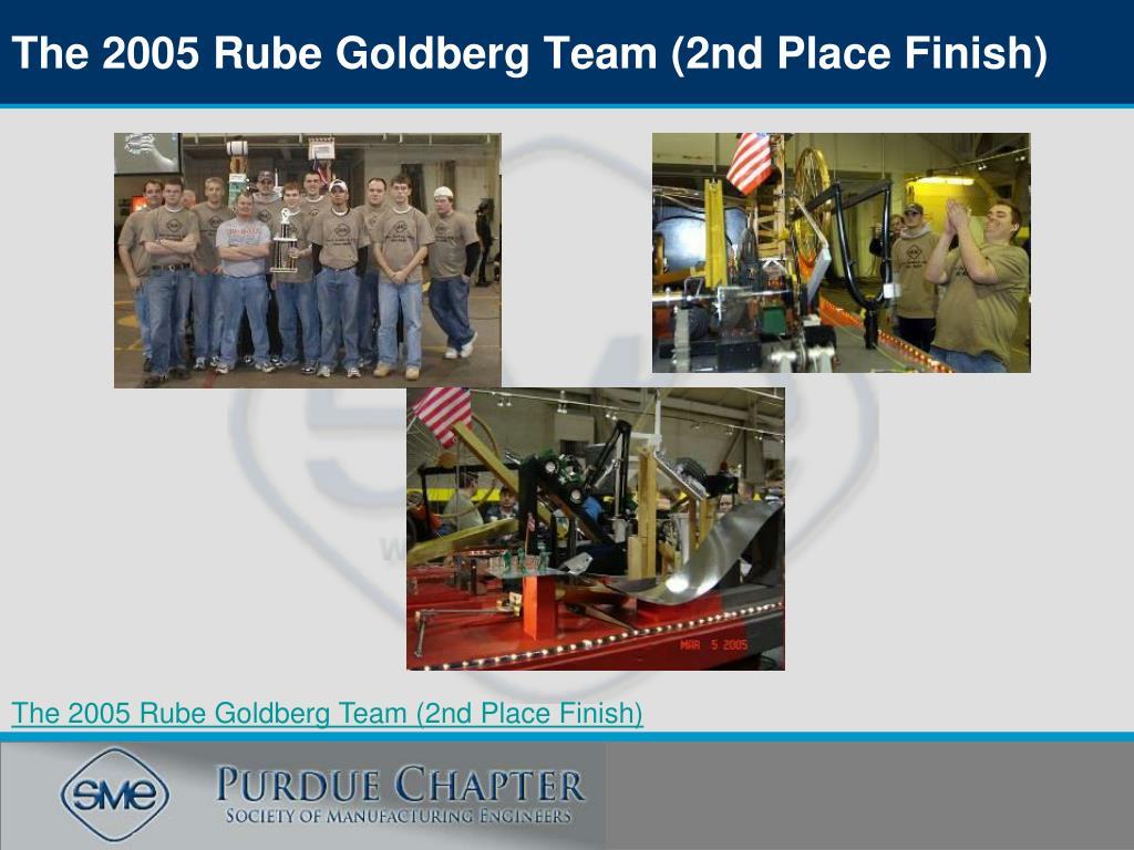 The 2005 Rube Goldberg Team (2nd Place Finish)