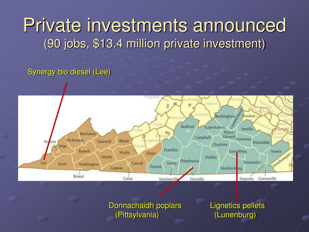 Private investments announced
