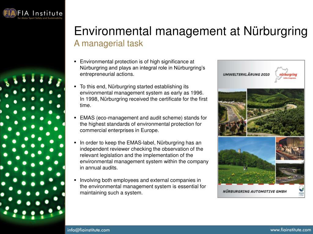 Environmental management at Nürburgring