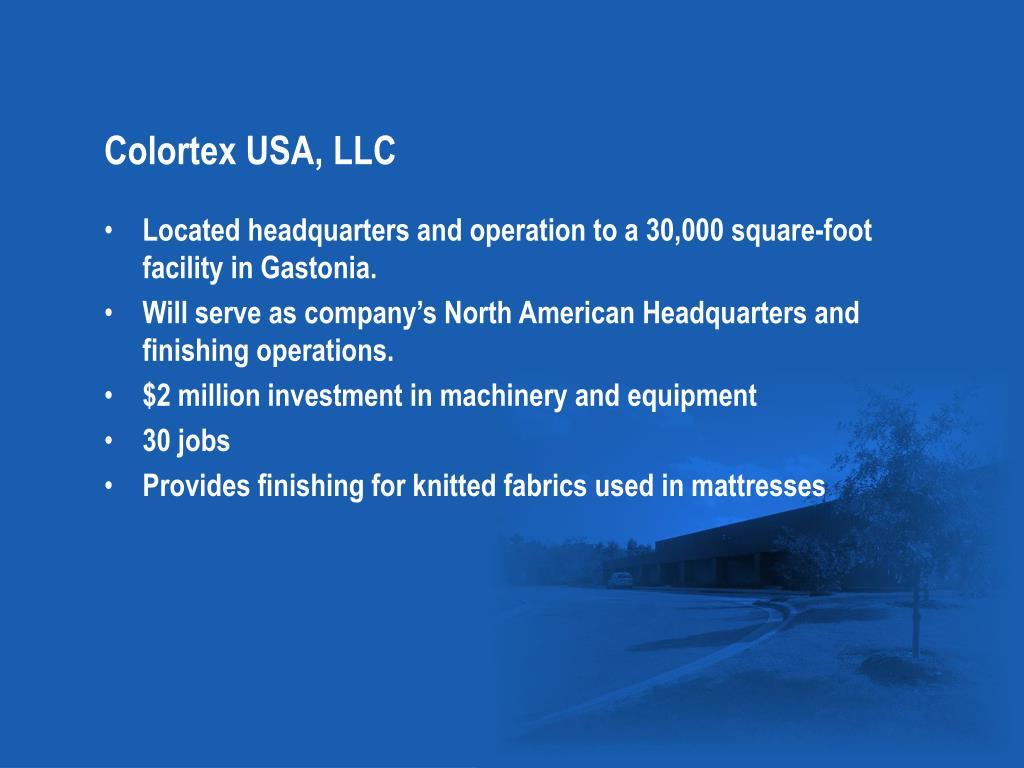 Colortex USA, LLC
