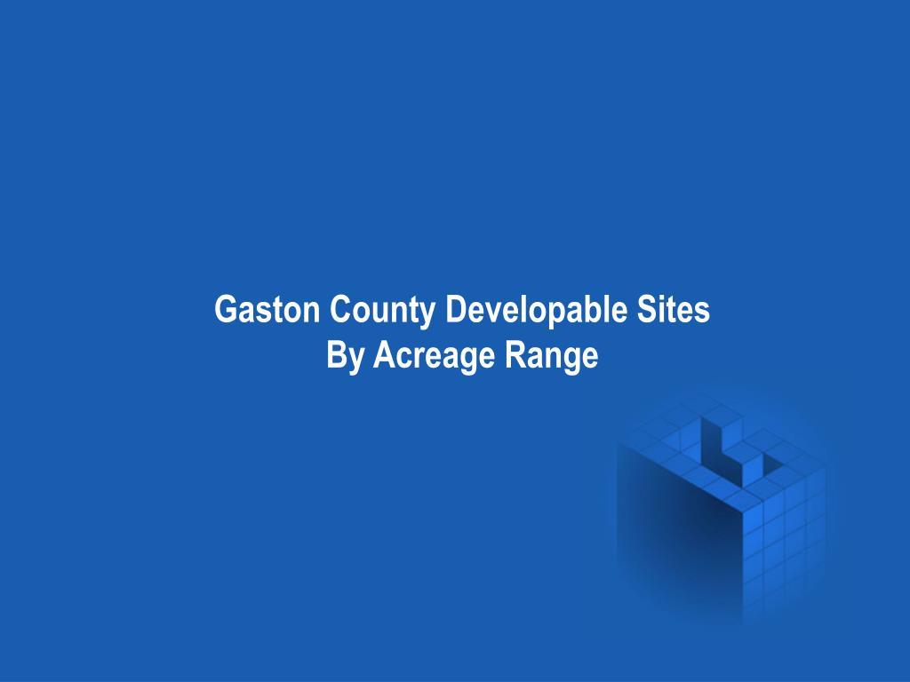 Gaston County Developable Sites