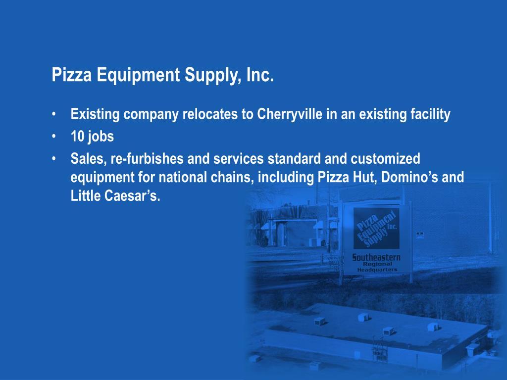 Pizza Equipment Supply, Inc.