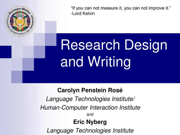 research design and writing n.