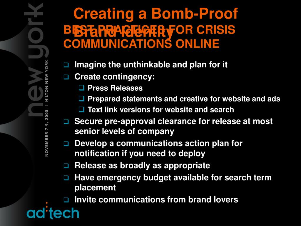 BEST PRACTICES FOR CRISIS COMMUNICATIONS ONLINE