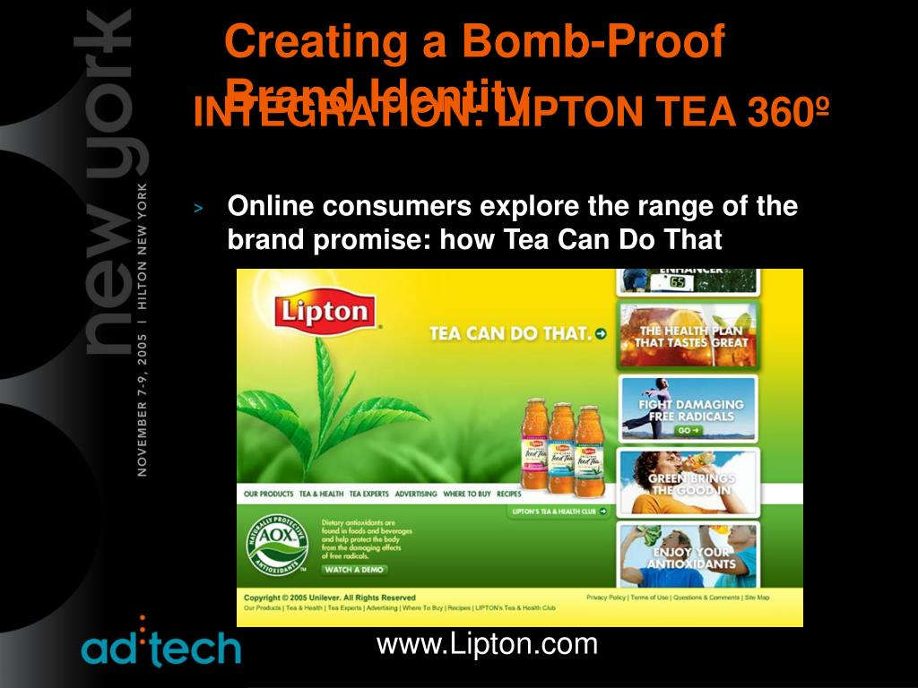 INTEGRATION: LIPTON TEA 360