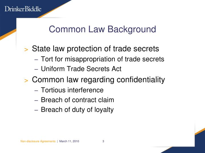 Common law background