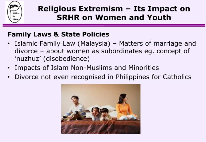 Religious Extremism – Its Impact on SRHR on Women and Youth