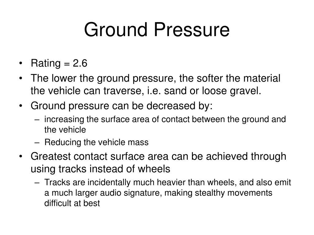 ground pressure l.