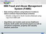 ibm fraud and abuse management system fams