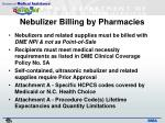 nebulizer billing by pharmacies