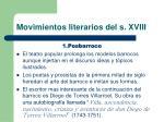 movimientos literarios del s xviii
