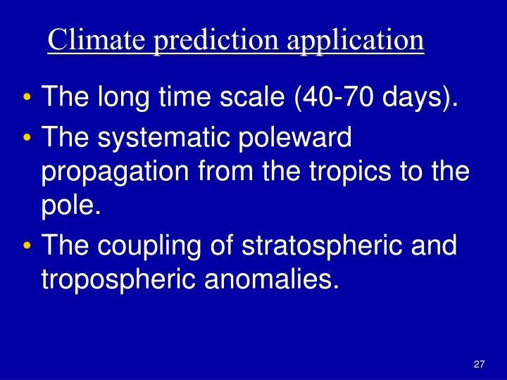 Climate prediction application