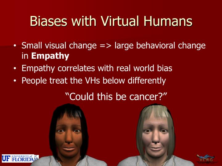 Biases with Virtual Humans