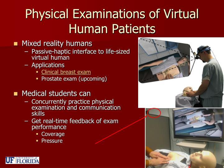 Physical Examinations of Virtual Human Patients