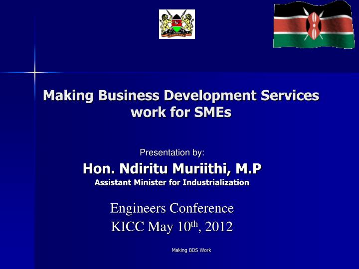 making business development services work for smes n.