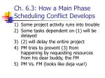 ch 6 3 how a main phase scheduling conflict develops