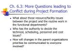 ch 6 3 more questions leading to conflict during project formation